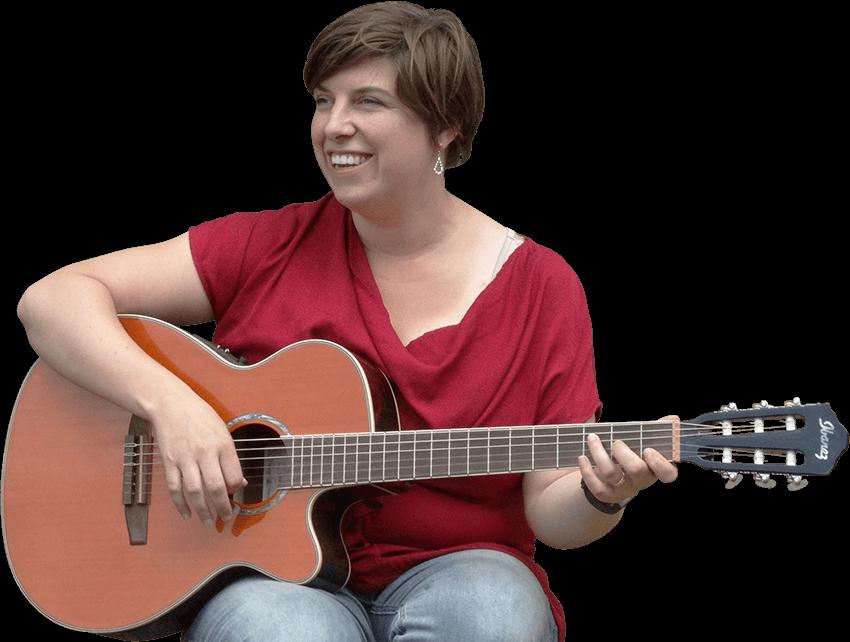 Nancy met gitaar